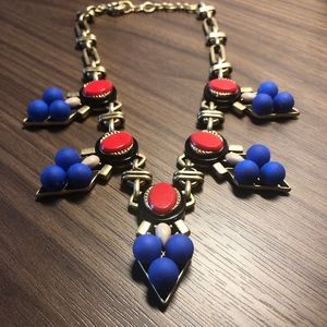 J.Crew MEDALLION NECKLACE in Electric Red